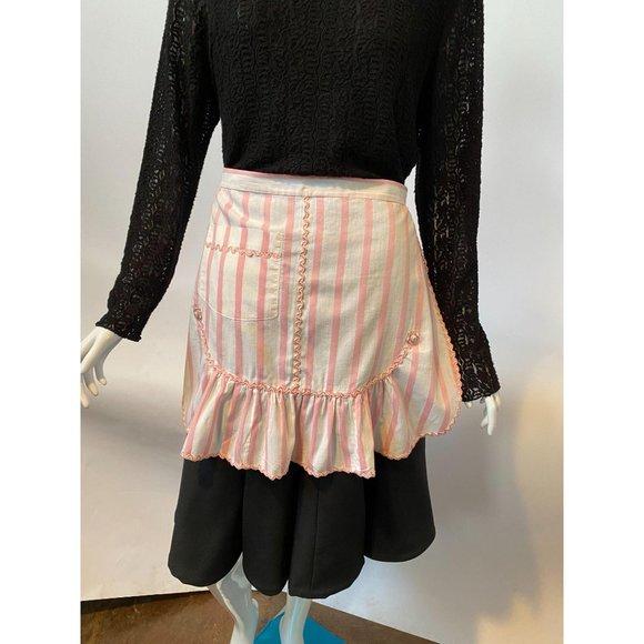 Pink Stripe Vintage Apron